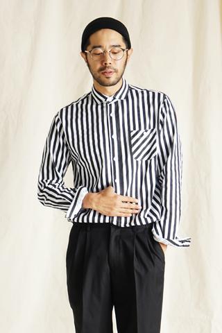 센스 스트라이프 셔츠(2color)