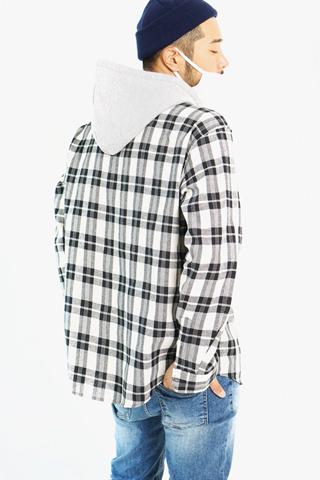 로만 후디 체크셔츠(2color)